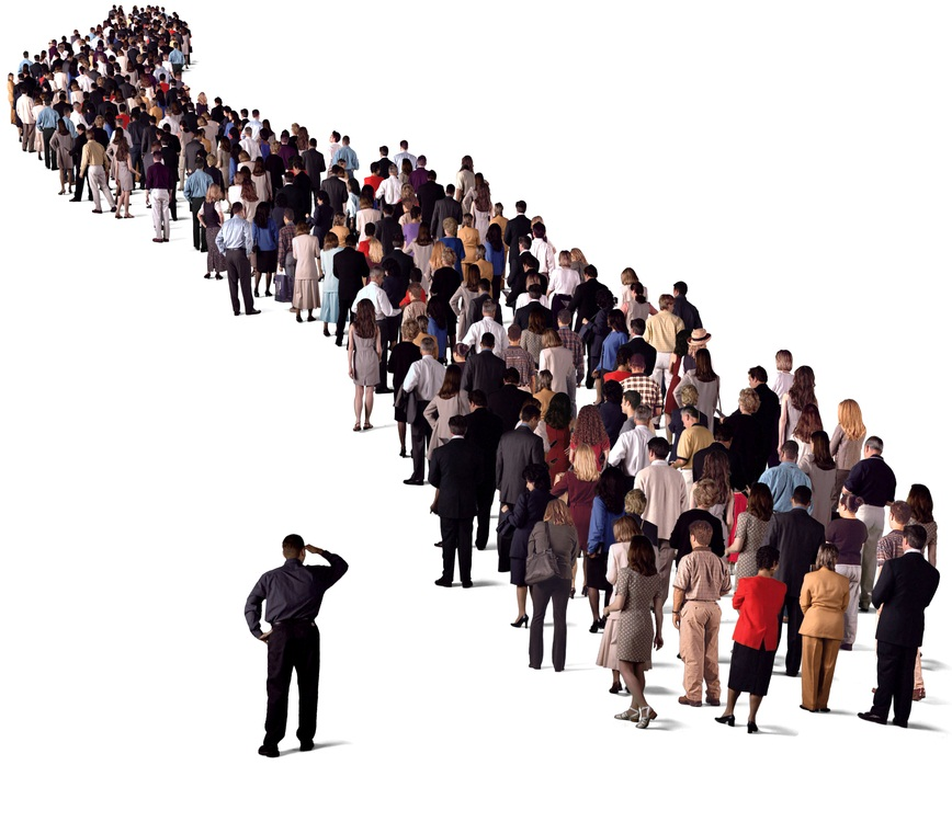 Толпа и очередь клиентов